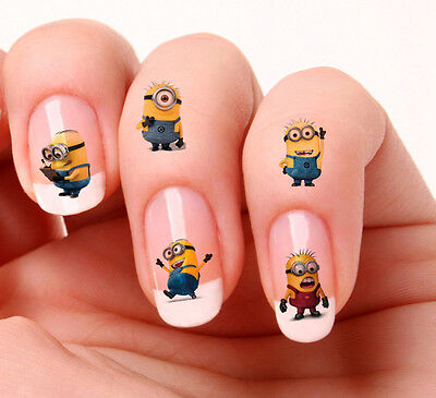20 Nail Art Stickers Transfers Decals #616 - Minions Despicable Me 2 mixed set