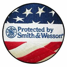 SMITH & WESSON S&W PROTECTED BY S&W CIRCLE LOGO PATCH M&P 45 40 9MM SIGMA RARE!!