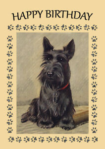 Scottish terrier scottie dog birthday greetings note card ebay image is loading scottish terrier scottie dog birthday greetings note card m4hsunfo