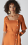 Size Whistles Ambika Linen Dress New With Tag Rust 12