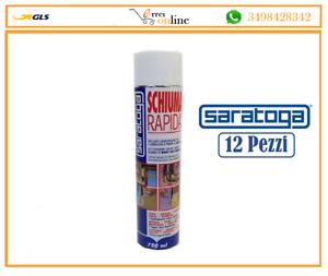 12-pz-Schiuma-poliuretanica-espansa-SCHIUMA-RAPIDA-manuale-750ml-40lt-Saratoga