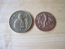 Lot of (2) medals:  1961 Lima, Peru & Soccer Medal