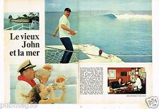 Coupure de presse Clipping 1974 (2 pages) John Wayne