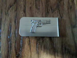 9 MM AUTOMATIC PISTOL METAL MONEY CLIP U.S.A MADE NEW IN BAGS