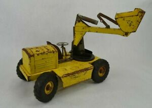 Vintage-NY-LINT-Pettibone-Yellow-Pressed-Steel-Swinging-Front-Loader