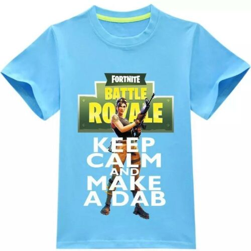 Fort Night Tee Shirt Pullover Tops Cosplay Toddle Boys Kids Game Performance