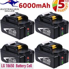 18V 6.0AH For Makita LXT400 BL1830B BL1840B BL1850B BL1860B Battery Fuel Gauge