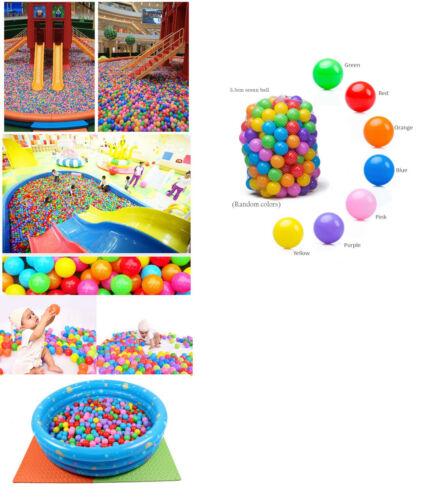 400pcs 5.5cm Soft Plastic Colorful Ocean Fun Ball Baby Kid Toy Water Pool Slide