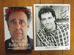 BRAD-GARRETT-Signed-8-X-10-Black-amp-White-Photo-w-Book-034-When-The-Balls-Drop-034