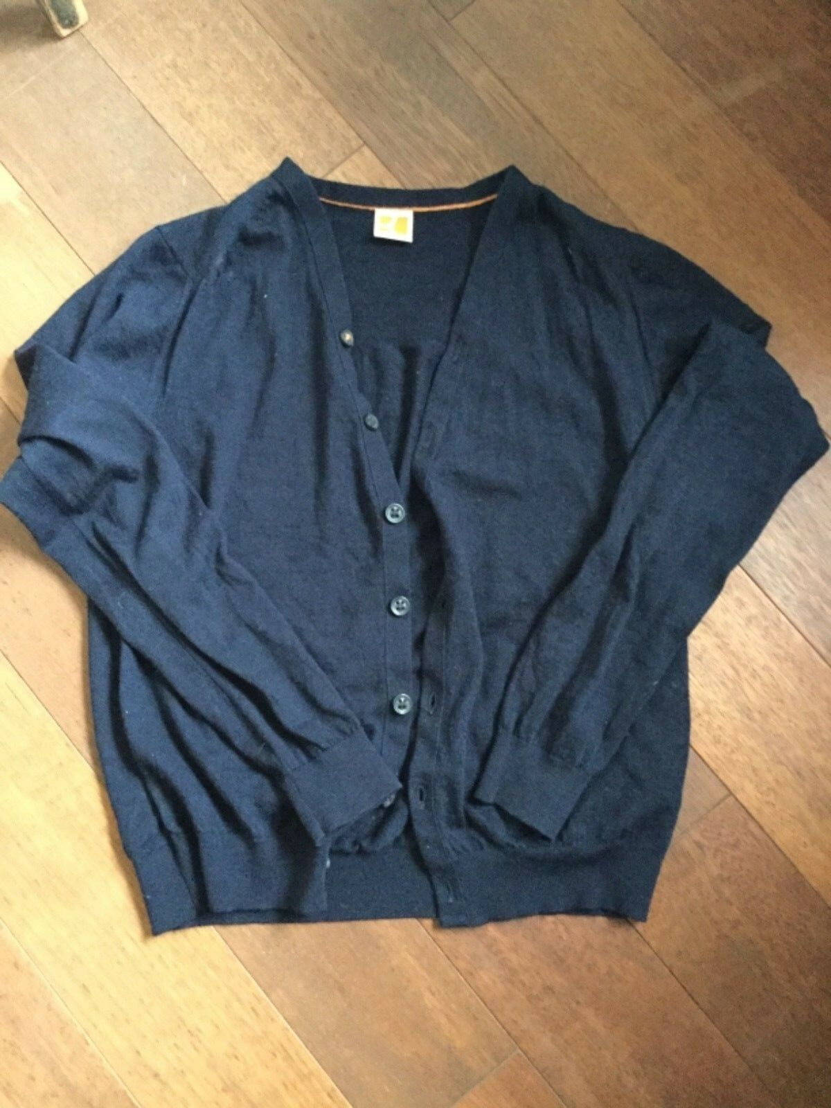 Hugo Boss Herren Pullover Sweathshirt Cardigan Gr. M, dunkelblau w.neu
