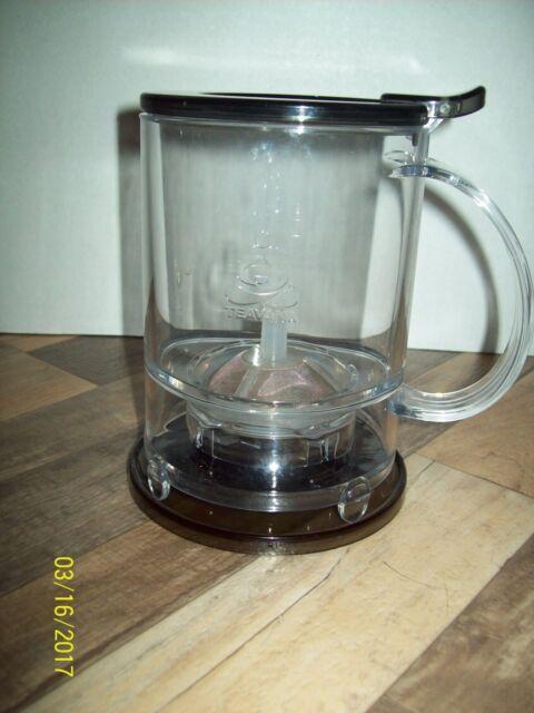 BLACK TEAVANA® 16 OZ PERFECTEA MAKER, plastic brewing cup,bottom dispenser