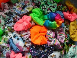 HAIR-SCRUNCHIES-SCRUNCHY-CLIPS-BANDS-ELASTIC-TIES-XMAS-GIFT-DANCE-90-DESIGNS