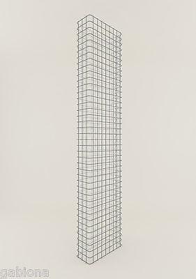 ZAUNGABIONE Zaun-Gabione Breite 42 cm, Tiefe 17 cm, Maschenweite 5 x 5 cm