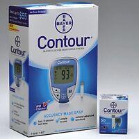 Glucose Meter Kit Diabetic Monitor Blood Sugar No Coding W/ 50pcs Test Strips