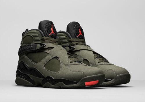 2017 Nike Air Jordan 8 VIII Size 13 305381-305 Take Flight Olive Undefeated
