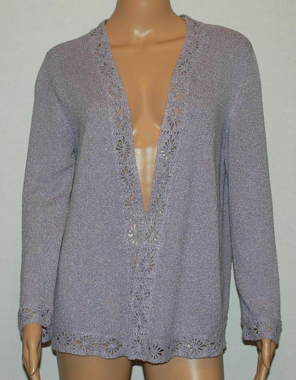 Valentino Boutique Lilac Silk Blend Open Front Ca… - image 2