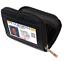 Black-Genuine-Leather-Women-Accordion-Wallet-Zip-Around-ID-Card-Holder thumbnail 2