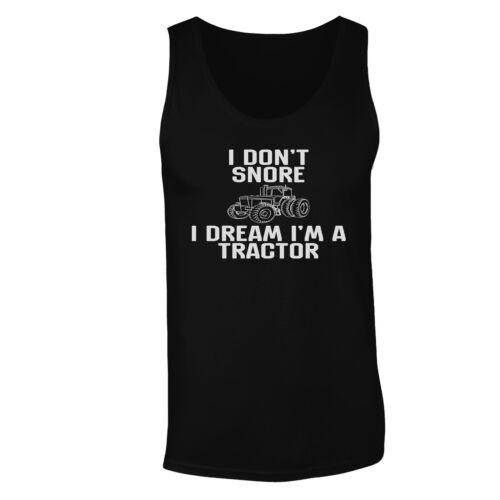 I don/'t snore i dream I/'m tractor Men/'s T-Shirt//Tank Top hh399m