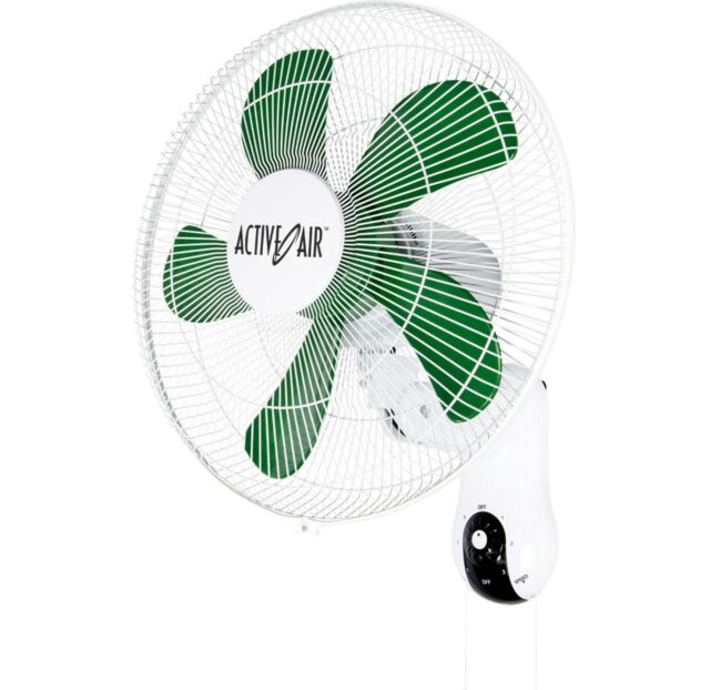 Hydrofarm Active Air 16-Inch Mountable 90-Degree Oscillating Grow Fan | ACF16