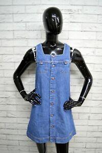 Vestito-Donna-DIESEL-Taglia-M-Woman-Abito-Dress-Tubino-Salopetta-Jeans-Cotone