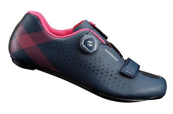 Shimano 2018 RP5 Women's Carbon Boa Road Bike Cycling shoes Navy - 37 (US 5.5)
