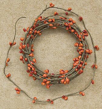Pumpkin Orange Pip Berry String Garland 18 feet