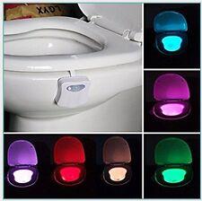 New Light Sensitive Automatic LED Toilet Nightlight Motion Sensor Bathroom Lamp