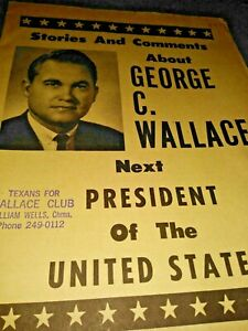 George …WALLACE FOR PRESIDENT Tin License Plate 1968 The Wallace Campaign
