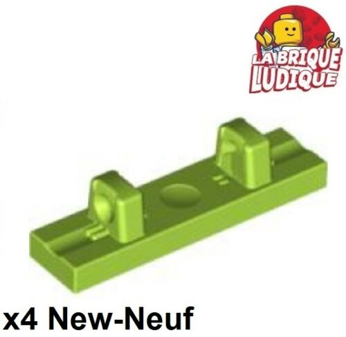Lego 4x Charnière hinge tile Plate plaque 1x4 locking vert citron//lime 44822 NEW