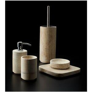 Accessori Bagno In Pietra.Cipi Set Sela Set Accessori Arredo Bagno In Pietra Levigata Ebay