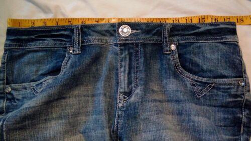 donna effetto W taglia L Jeans 18 Idol invecchiato opaco sbiadito 35 blu La 1a4qxwCS