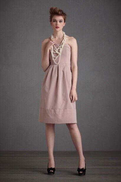 Anthropologie Hitherto Strapless Dress Congreenible Halter Sateen Sz  8 PERFECT