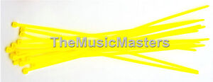 """1000 Yellow 6/"""" inch Wire Cable Zip Ties Nylon Tie Wraps 40lb USA Made Tiger Ties"""