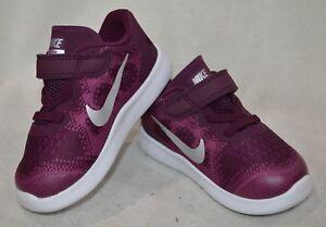 94db96ab94a39 Nike Free RN 2017 (TDV) Bordeaux Sil Toddler Girl s Shoes-Size 5 6 7 ...