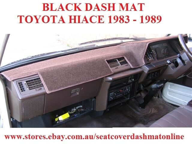 DASH MAT, BLACK DASHMAT, DASHBOARD COVER FIT TOYOTA HIACE 1983-1989, BLACK