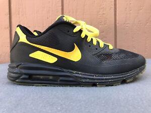 RARE-Nike-Air-Max-Lunar90-Hyperfuse-Premium-iD-US-11-Black-Yellow-653604-991-C6