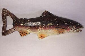 Vintage-Cast-Iron-Trout-Fish-Figural-Bottle-Opener-with-Original-Paint