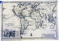 Antique map, F Draakx schip vaart door de straat en zuyd zee