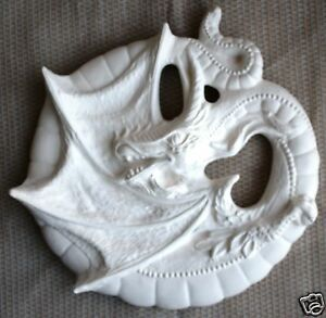 Details about Ceramic Bisque Dragon Wall Plaque Lakeland Mold 316 U-Paint  Ready To Paint