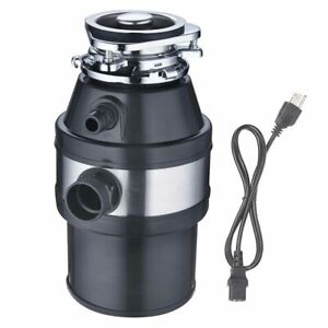 Garbage-Disposal-1-0-HP-Continuous-Feed-Home-Kitchen-Food-Waste-w-Plug-2600-RPM
