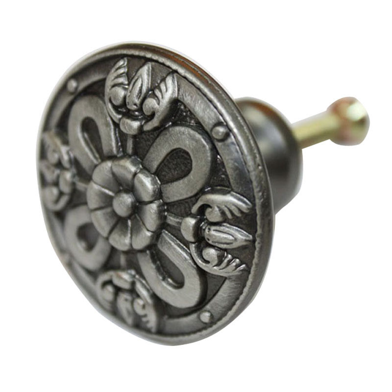 15 pcs Antique Pewter Metal 36mm Handles Wardrobe Cabinet Drawer Knobs JS-9971