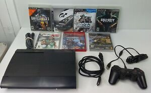Sony Playstation 3 PS3 Super Slim 250GB Bundle Cleaned & Tested CECH-4001B