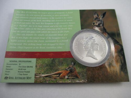 1998 RAM SILVER KANGAROO $1 SILVER UNCIRCULATED COIN COMPLETE!!!