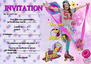 Detalles De 5 O 12 Invitaciones De Cumpleaños Soy Luna Ref 362