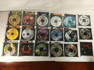 Lot of 18 PS1 Discs & Manual only, nascar, bowling, fishing, pinball, kiss golf