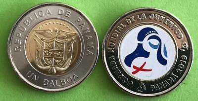 B-1 2000-2011,real 1+5+10+25+50 Centesimos +1 Balboa Panama Set 6 Coins UNC
