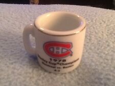 NHL STANLEY CUP CRAZY MINI MUG MONTREAL CANADIANS 1978 CHAMPS W/OPPONENT &SCORE