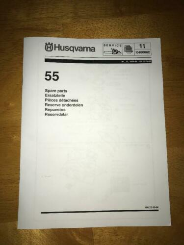 Details about Husqvarna 55 55 Rancher Chainsaw Illustrated Parts ...