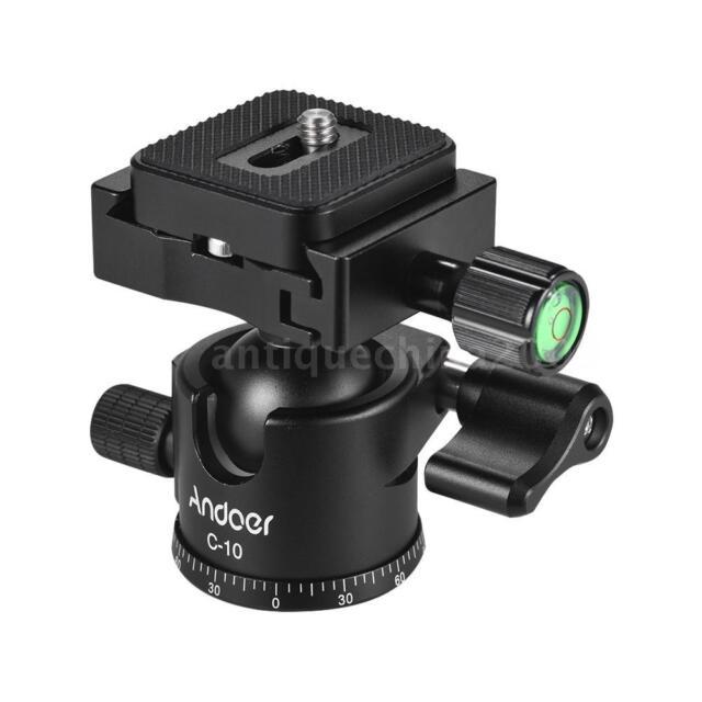 Andoer C-10 Aluminum Alloy Camera Tripod Ball Head Mini Ballhead for Canon Nikon