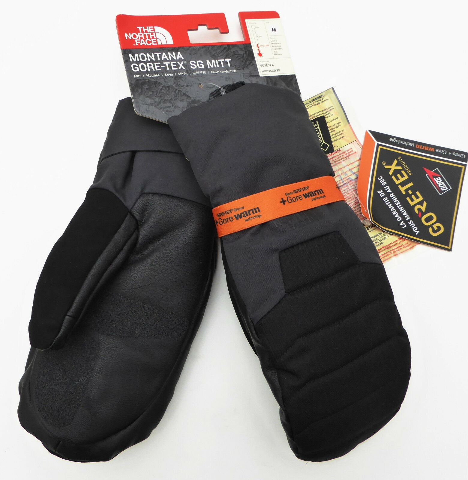 The North Face Mens MONTANA SG GORE-TEX MITTS Warm Insulated Mitt Asphalt Grey M
